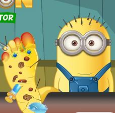 Play Minion Foot Doctor Game