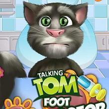 Play Talking Tom Foot Doctor Game