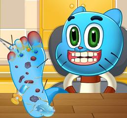 Play Gumball Foot Doctor Game