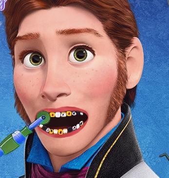 Play Hans Frozen Dentist Game