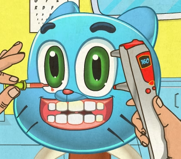 Play Gumball Eye Doctor Game