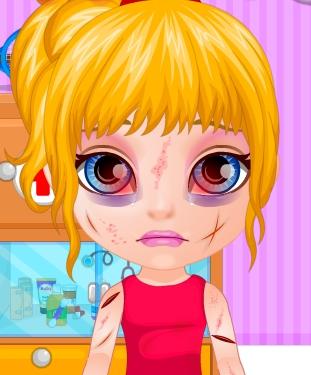 Play Baby Barbie Sports Injury Game