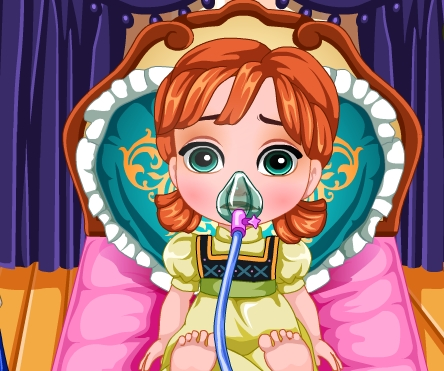 Play Baby Anna Flu Caring Game