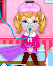 Play Poor Babys Sick Today Game
