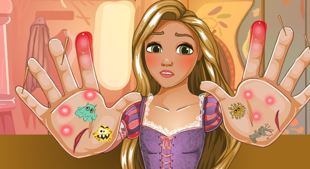 Play Rapunzel Hand Doctor Game
