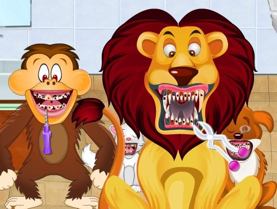 Play Animals Dentist Game