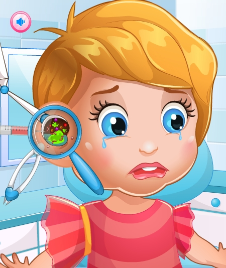 Play Baby Lizzie Ear Doctor Game