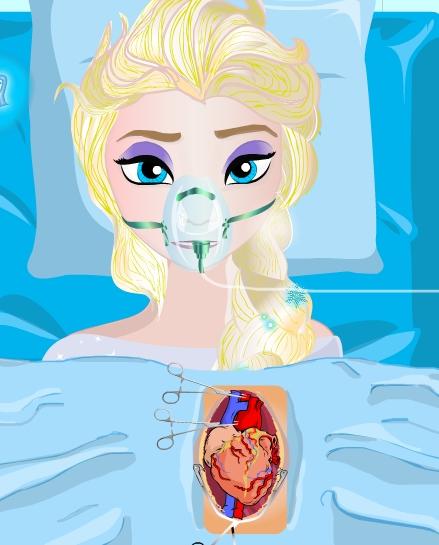 Play Elsa Heart Surgery Game