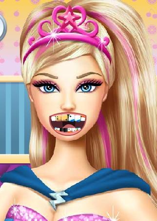 Play Barbie Superhero At Dentist Game