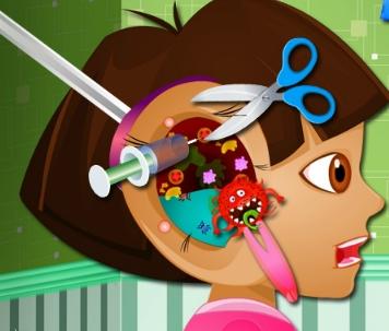 Play Dora Ear Doctor Game
