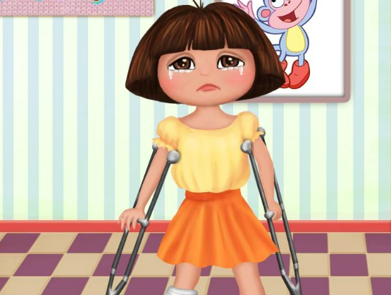 Play Dora Foot Doctor Game