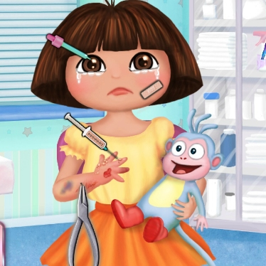 Play Dora Hand Doctor Game