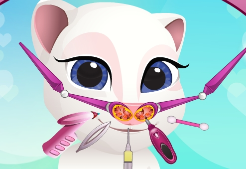 Play Baby Talking Angela Nose Doctor Game