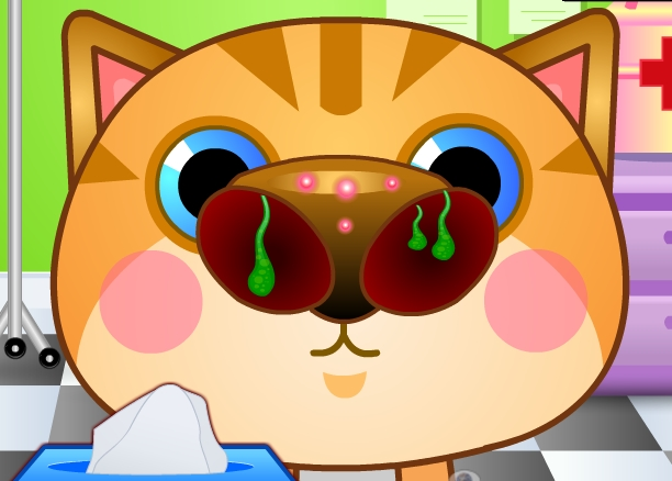 Play Doctor Cat Nose Game