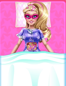 Play Super Barbie Stomach Problems Game