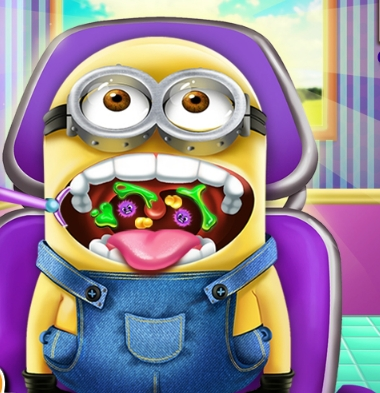 Play Minion Throat Care Game