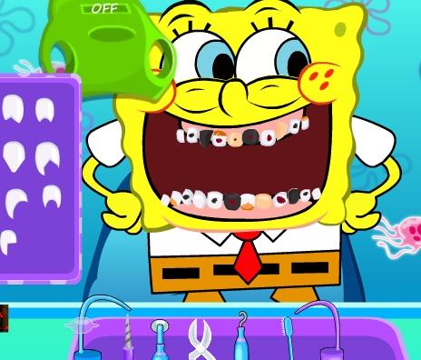 Play SpongeBob Tooth Decoration Game