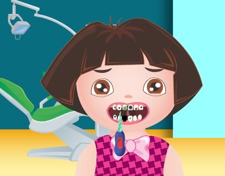 Play Dora Teeth Surgery Game