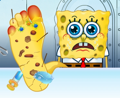 Play SpongeBob Foot Doctor Game