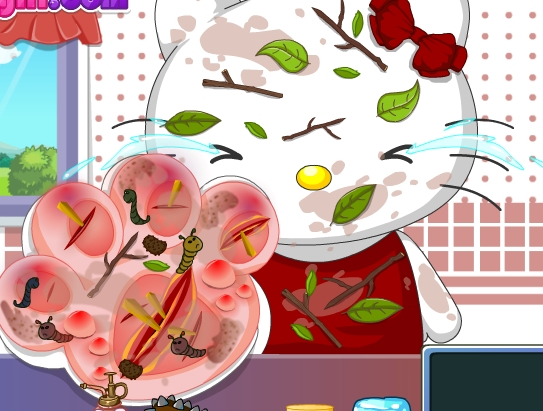 Play Hello Kitty Foot Doctor Game