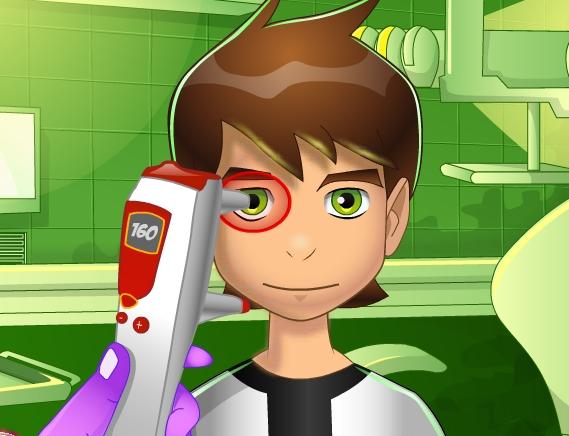 Play Ben 10 Eye Doctor Game