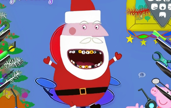 Play Peppas Santa Dental Care Game