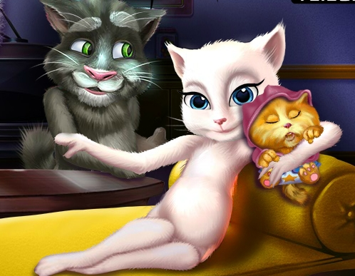 Play Talking Angela And The New Born Baby Game