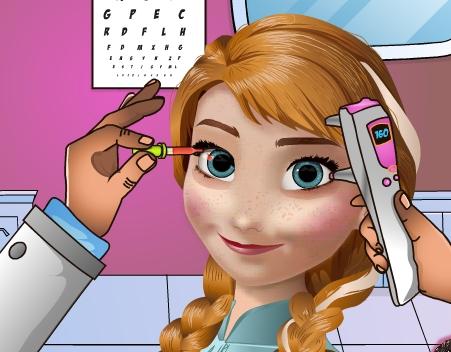 Play Anna Eye Doctor Game
