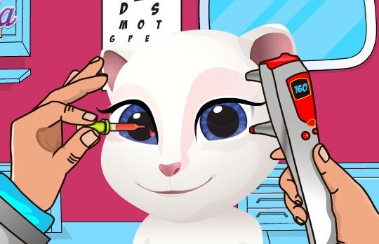 Play Baby Angela Eye Doctor Game