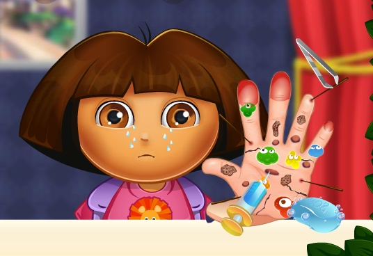 Play Dora Hand Treatment Game