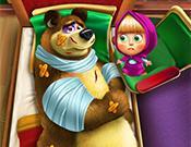 Play Masha And The Bear Injured Game
