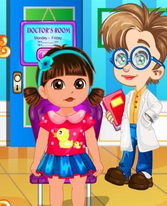 Play Dora Doctor Slacking Game
