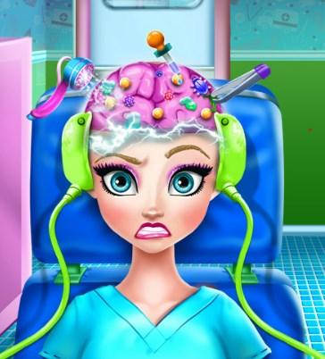 Play Elsa Brain Doctor Game
