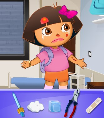 Play Dora the Explorer at the Doctor Game