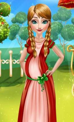 Play Anna Frozen Baby Birth Game