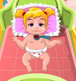 Play Baby Shona Having Fever Game