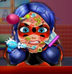 Play Dotted Girl Skin Doctor Game