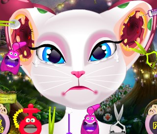 Play Talking Angela Nasty Ear Infection Game