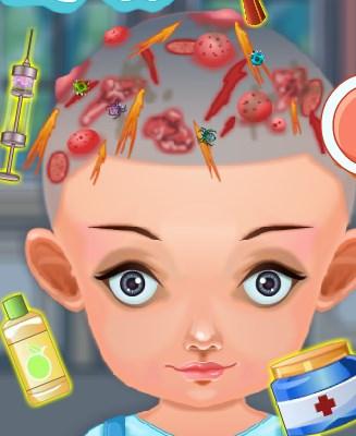 Play Baby Hair Treatment Game