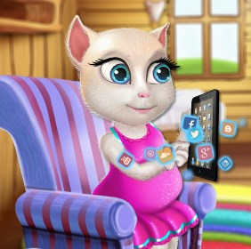 Play Pregnant Talking Angela Shopping Game