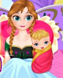 Play Frozen Anna Baby Birth Game
