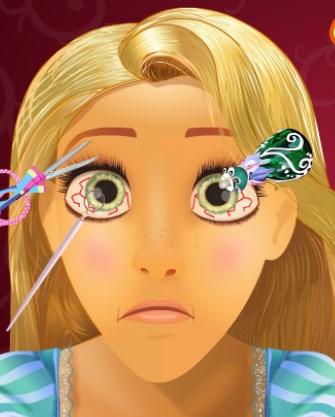 Play Rapunzel Eye Doctor Game