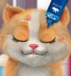 Play Kitty Sick Care And Grooming Game