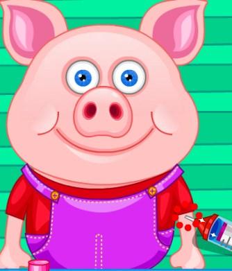 Play Cute Pig In Hospital Game