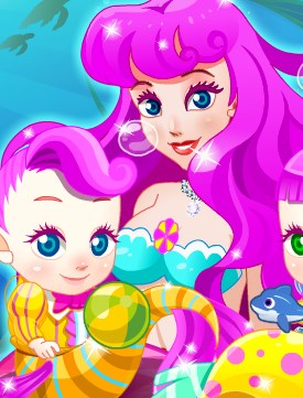Play Mermaid Gives Birth Twins Game