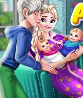 Play Pregnant Elsa Twins Birth Game