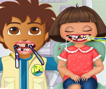 Play Dora and Diego At The Dentist Game