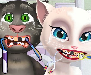 Play Angela And Tom At The Dentist Game