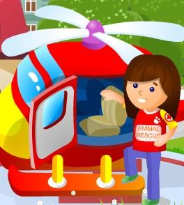 Play Pet Rescue Chopper Game