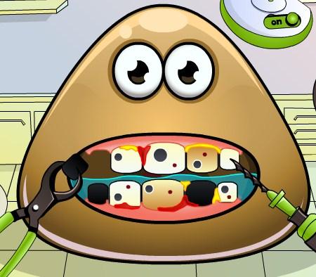 Play Pou Tooth Problems Game
